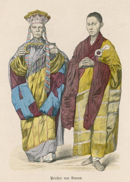 Buddhist priests of Annam (now Vietnam)