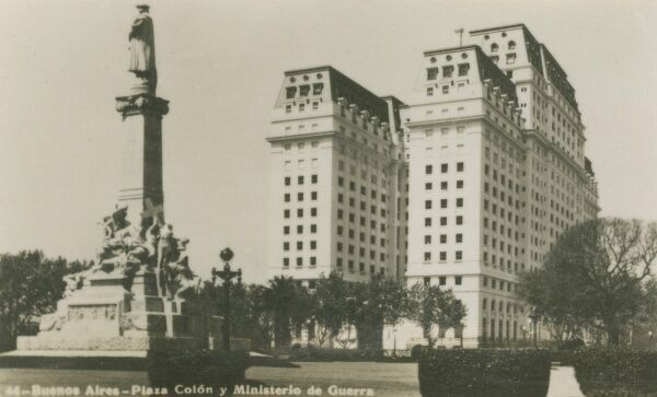 Argentina - Buenos Aires - Columbus Plaza and the Ministry of War. Photo (9/40) from a fold-out set