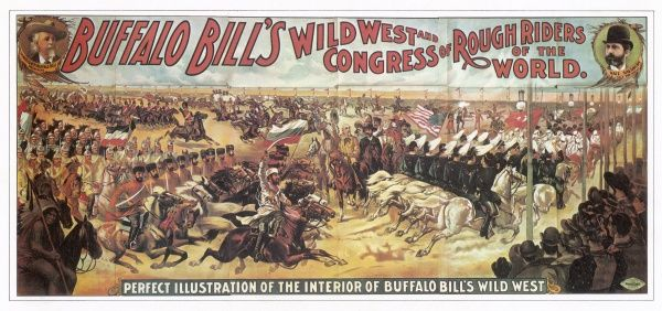 A 'perfect illustration' of Buffalo Bill's Wild West Show and Congress of Rough Riders of the World