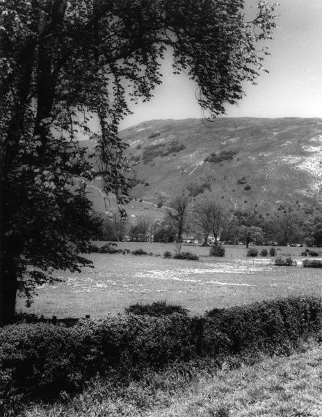 Bunster Hill, Staffordshire, viewed from Dovedale, Derbyshire, England. Date: early 1960s
