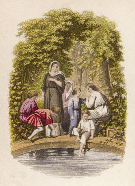 The pilgrims are refreshed by the Bath of Sanctification