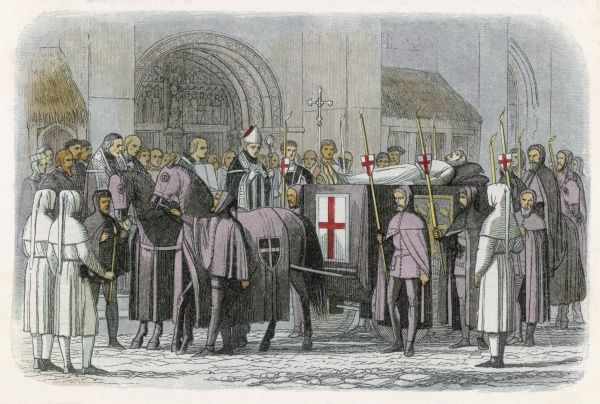 The burial of Richard II, after a probably violent death at Pontefract