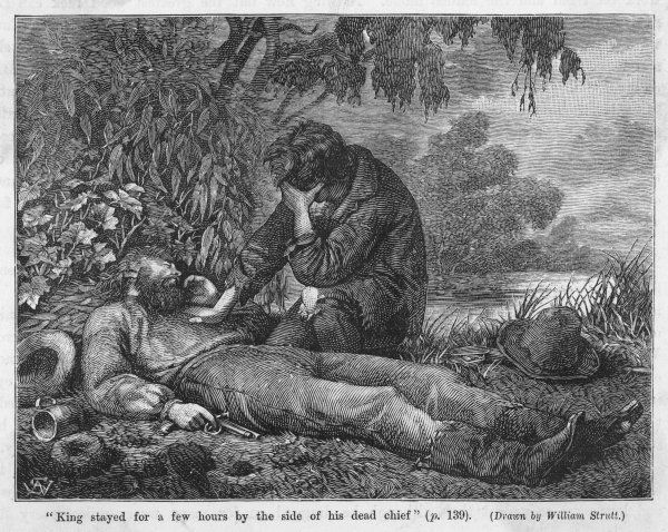 Robert O'Hara Burke and W. J. Wills were the first men to cross Australia from south to north. King finds the bodies of his expedition 'chief&#39