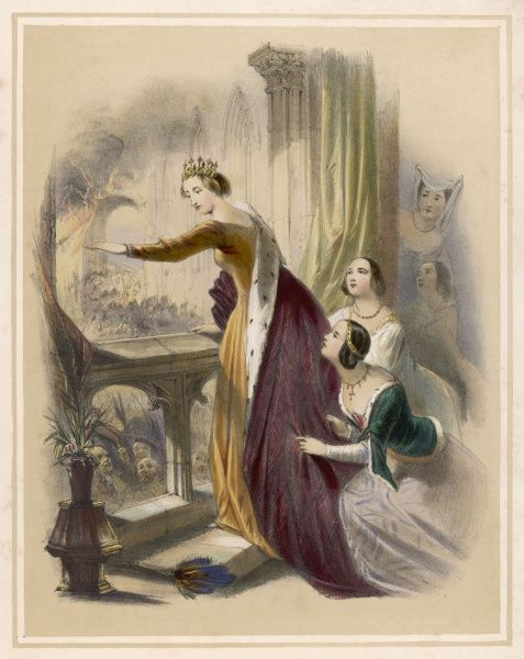 The burning of the Savoy Palace - Eleanor, Countess of March ('The Heroine of the Savoy') confronts the mob