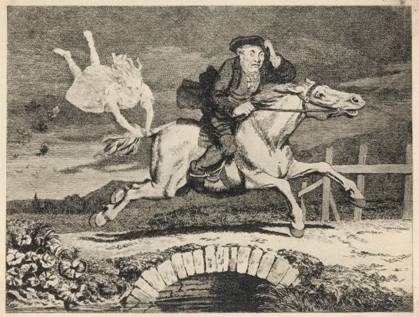 'TAM O'SHANTER' The devil clings to his horse's tail