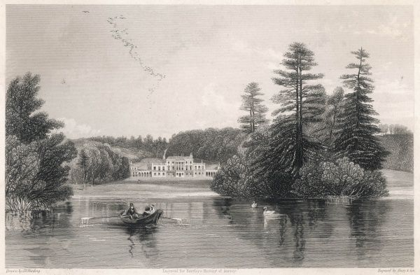 Bury Hill, Surrey, the seat of Charles Barclay, viewed from the lake