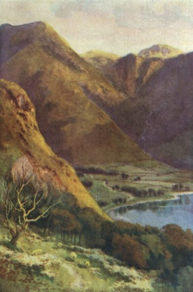 The Head of Buttermere and Honister Crag. Date: circa 1909