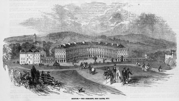 The Crescent and baths at Buxton, Derbyshire