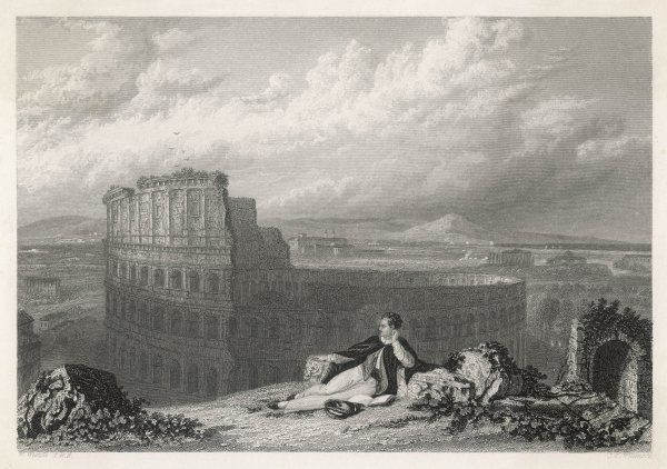 Lord Byron at the Colosseum, Rome, Italy