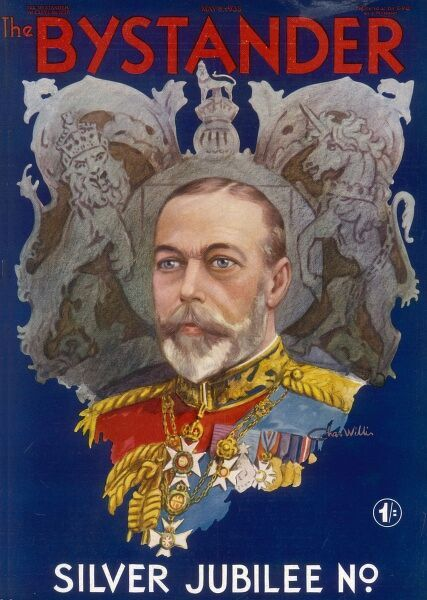 Front cover of a special Bystander number marking the Silver Jubilee of King George V in 1935