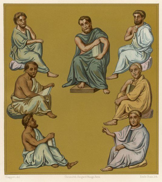 Greek doctors of the Byzantine Empire plate 1 of 2