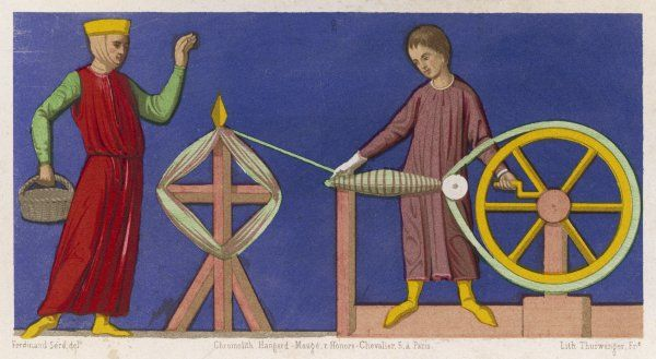 Spinning wool at Amiens in the Middle Ages