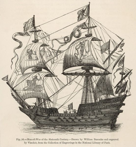French warship