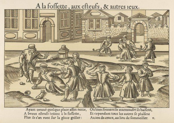 Old French ball games Fossette & Le jeu de Croce, a kind of hockey game Date: Sixteenth century