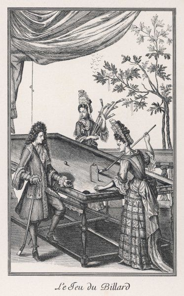 Duchesse de Bourgogne playing billiards