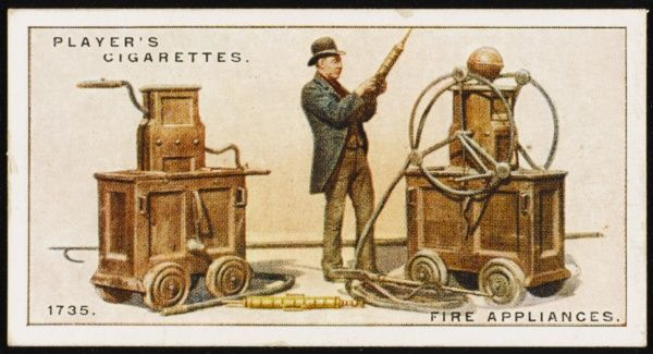 18th century fire-engines made by a firm which became Merryweathers. The engine on the left is from Windsor Castle