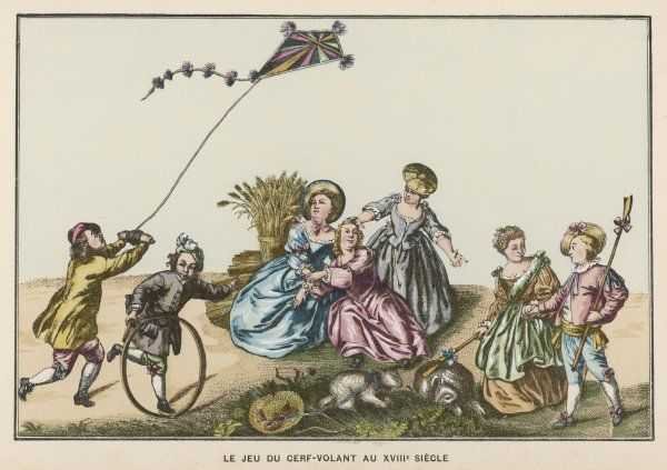 Kite flying was amongst the games played by children in the eighteenth century