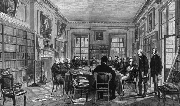 A Cabinet meeting in Downing Street, London, during Gladstone's ministry