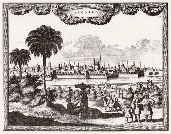 A view toward Cairo. Date: circa 1700