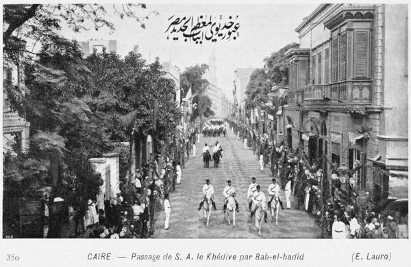 Cairo, Egypt - The Khedive in the Bab-el-hadid District