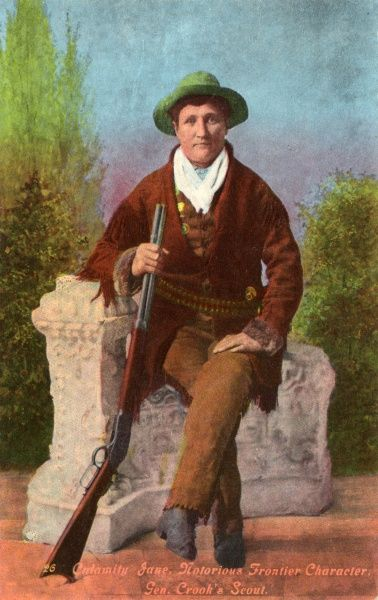 Calamity Jane, notorious frontier character, General Crooks scout