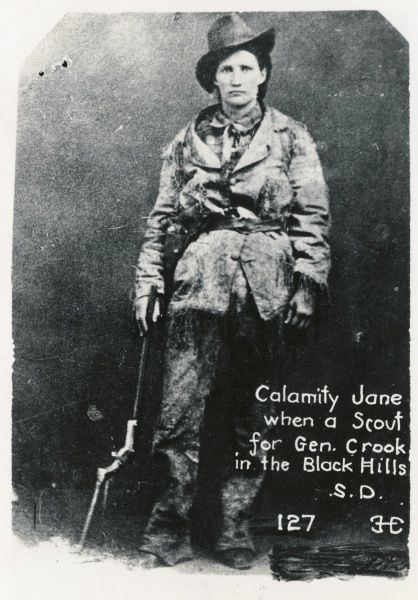 Calamity Jane when she was a scout for General Crook in the Black Hills, S. D