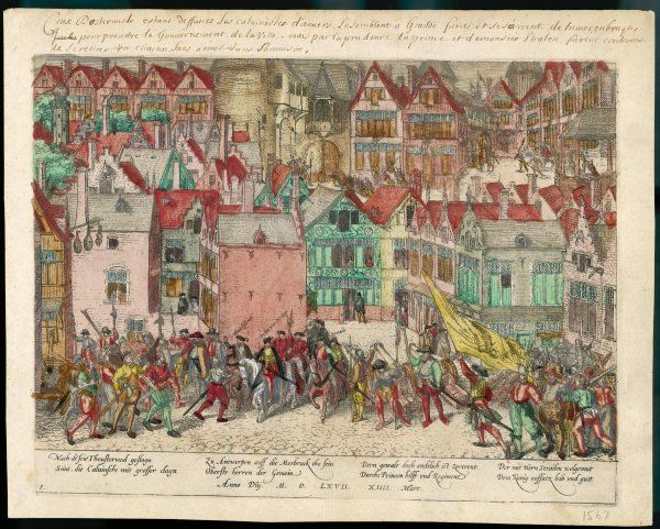 The Calvinist protestants of Antwerp make an unsuccessful attempt to seize control of the city from their Spanish (Catholic) governors