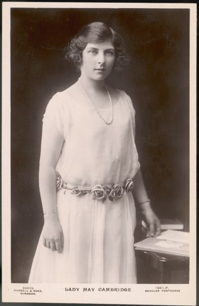 LADY MAY CAMBRIDGE later Lady Henry Abel Smith Daughter of the Earl and Countess of Athlone (Alexander of Teck and Princess Alice)
