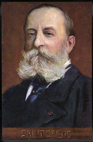 Charles-Camille Saint-Saens, French musician and composer