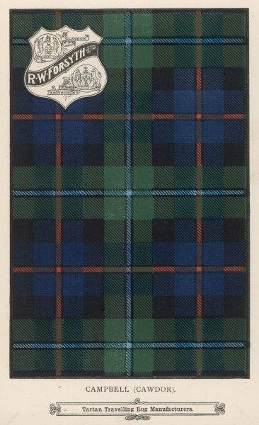 The Campbell (Cawdor) Tartan (Green, blue and red)