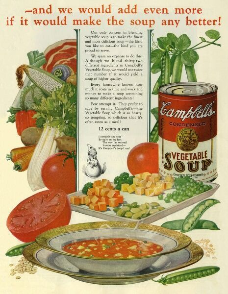 Campbell's Soup Date: 1923