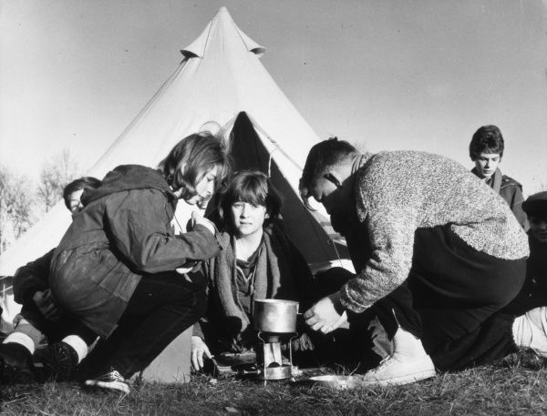 Time to brew up at a winter camp for schoolchildren