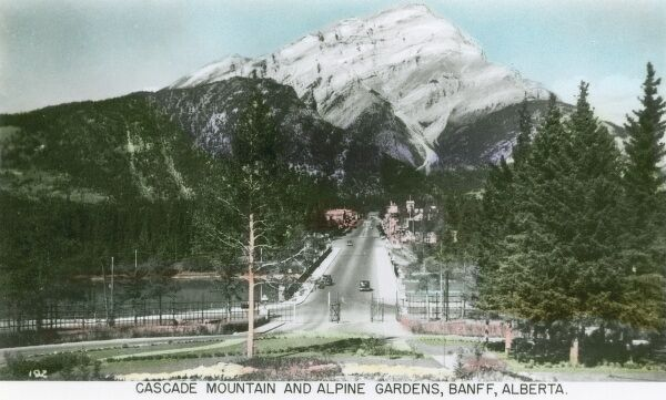 Canada - Cascade Mountain and Alpine Gardens, Banff, Alberta