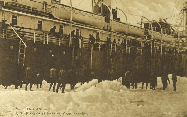 Canada - Newfoundland - SS Florizel at Icefields - the crew boarding