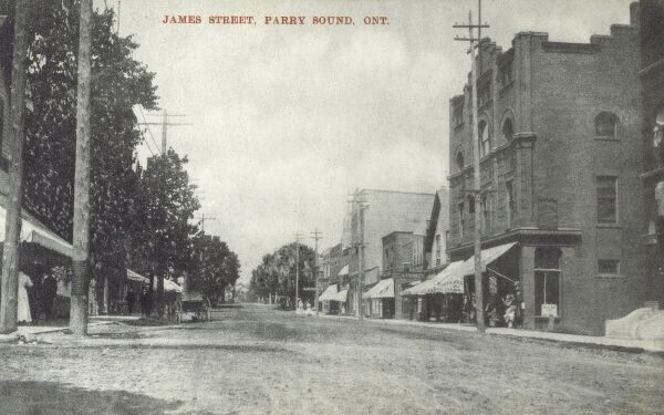Canada - Parry Sound, Ontario - James Street Date: 1908