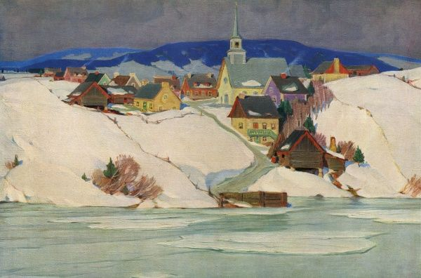 Peribonka: general view across a frozen lake Date: 1931