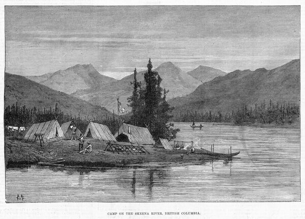 Camp on the Skeena river, British Columbia