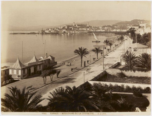 A view of 'La Croisette' - the sea front at Cannes