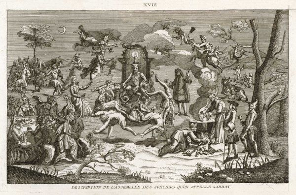 Cannibalistic practices at a witches' Sabbat