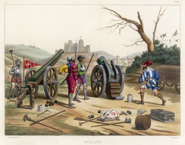 French cannon and mortar of the period of Francois I