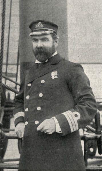 Captain Henry Baynham of the Training Ship Wellesley, on the River Tyne at North Shields, Northumberland. In 1868, James Hall and other local businessmen set up a charity to provide shelter for Tyneside waifs and train young men for naval service