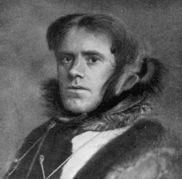 Ejnar Mikkelsen, the Danish Polar explorer and author, pictured in 1909