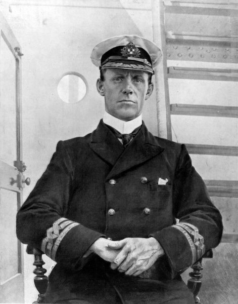 The Captain of the ill-fated lliner, the Empress of Ireland, who went down with his ship, but was saved and taken aboard the colliding vessel, the Storstad