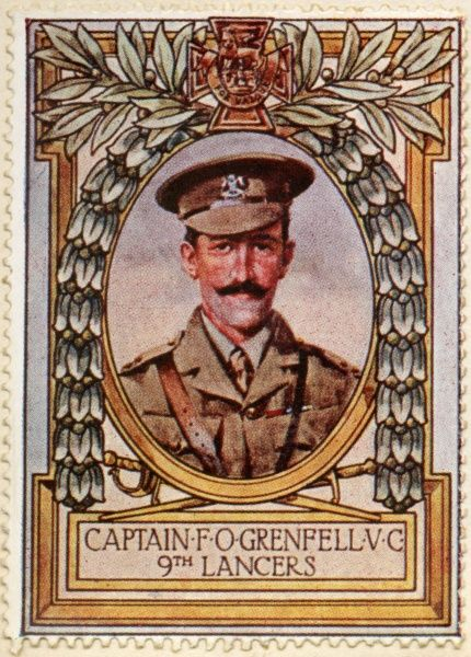 FRANCIS OCTAVIUS GRENFELL VC (1880 - 1915) of the 9th Lancers. English recipient of the Victoria Cross, the highest and most prestigious award for gallantry in the face of the enemy that can be awarded to British and Commonwealth forces