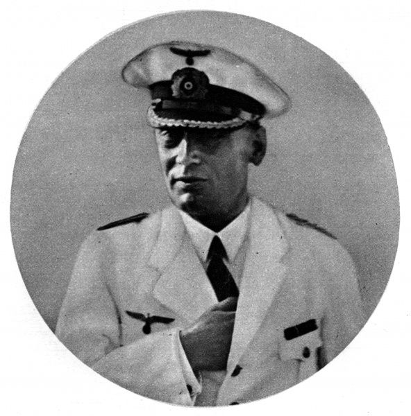 Captain Hans Wilhelm Langsdorff (1894 - 1939), German naval officer and commander of the Admiral Graf Spee pocket-battleship which was scuttled after the Battle of River Plate near Montevideo in Uruguay