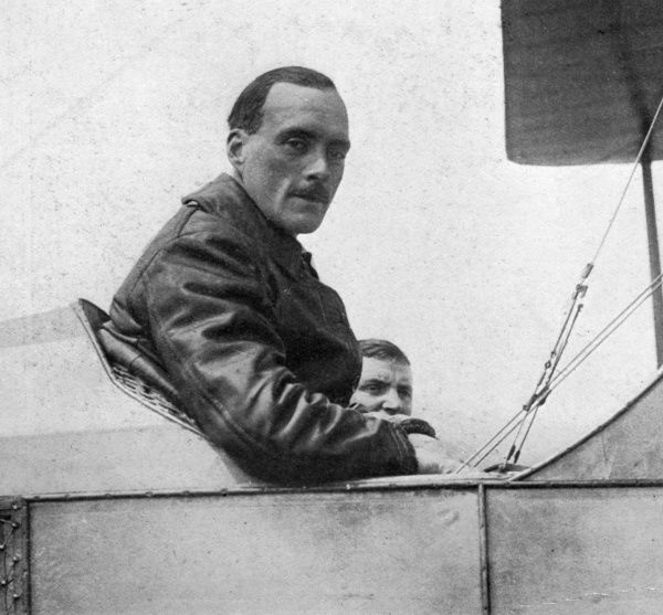 Captain Longcroft, who established the world's record in a non-stop flight in 1913 from Montrose to Farnborough, covering the 630 miles in seven and a half hours. Date: 1913