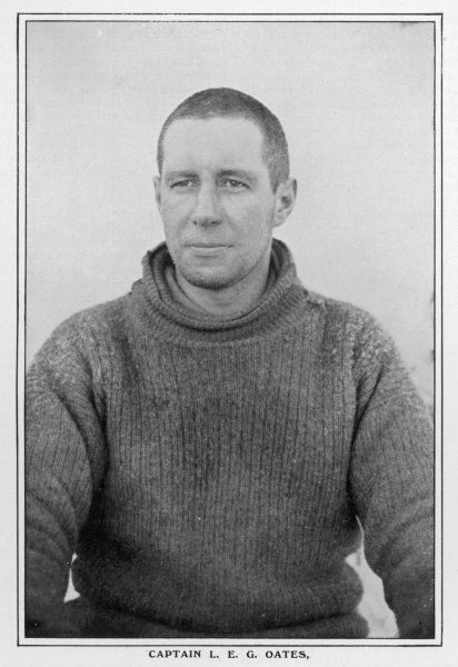 SCOTT'S EXPEDITION Captain Oates, member of the expedition which reached the South Pole in January 1912; lost his life in a blizzard on the return trip