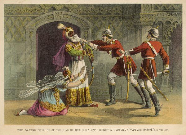 The King of Delhi seized by M. Hodson of 'Hodson's Horse&#39
