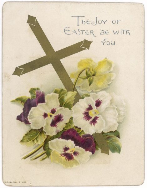 Easter card with Crucifix