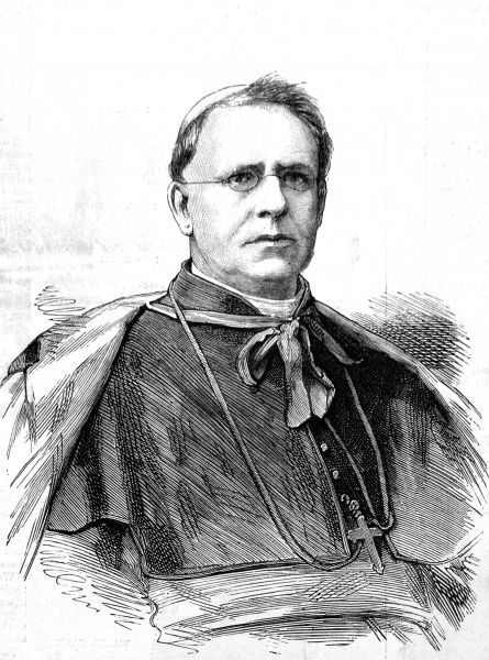 Engraving of His Eminence Cardinal Edward McCabe, the second Irish Cardinal in the history of the Roman Catholic Church